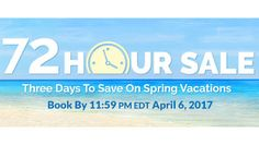 72 Hour Sale - https://traveloni.com/vacation-deals/72-hour-sale-6/ #mexicovacation #caribbeanvacation #hawaiivacation