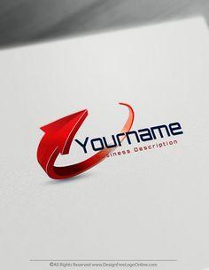 Create Arrow Logo Design With The Free Logo Maker Modern Logo Design, Custom Logo Design, Create A Logo Free, Free Design, Design Design, Design Trends, Design Ideas, Arrow Logo, Flat Logo