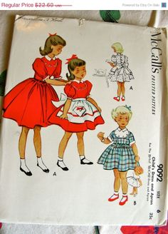 SALE UNCUT Vintage 1950's Betsy McCall Girls' Dress by anne8865, $19.21
