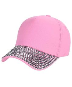 9c33e02bfc6dc Glitter Rhinestone Baseball Cap Fashion Jeans Denim Cap Outdoor Sun Hat Pink  CM184RO5NW4