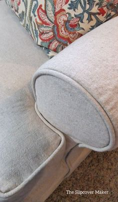 Oatmeal linen cotton perfect for slipcovers. Check out my review at The Slipcover Maker.