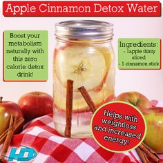 Apple Cinnamon water is great for weight loss!