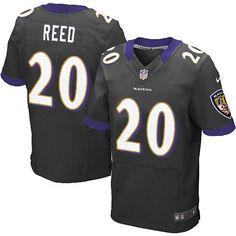 556da5e21e4 Nike NFL Baltimore Ravens 20 Ed Reed Elite Black Alternate Jersey Sale