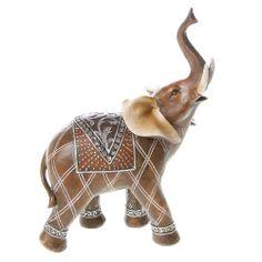 Asian decorated elephant figure