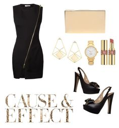 """""""cause and effect"""" by feliciy15 on Polyvore featuring Bouchra Jarrar, Victoria Beckham, Valentino, Kate Spade, Yves Saint Laurent, Envi, women's clothing, women, female and woman"""