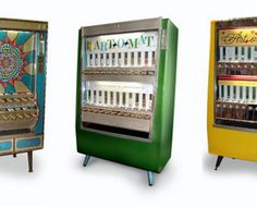 Ooh, I love this idea...a vending machine for local artists? Yes. Salon needs one. Now.