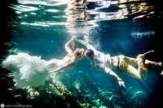 by Sakura Photography -cenote trash the dress session