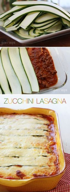 Gluten Free & Low Carb Zucchini Lasagna; or you can use eggplant in the same way!