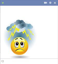 Horrified emoticon