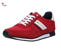 TOMMY HILFIGER FM0FM00979 TANGO RED SNEAKERS Homme TANGO RED 42 - Chaussures tommy hilfiger (*Partner-Link)