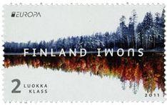 Kuukauden kuva, Metsät - syksy ja talvi postimerkki Suomi 2011