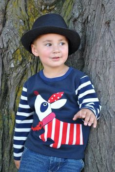 Hot Doggie Top --- Boy's Sweater Pattern - via @Craftsy