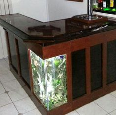 L shaped bar aquarium a modern hi gloss l shaped for Basement bar san diego
