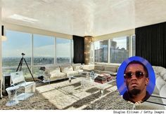 Sean 'Diddy' Combs lists his NYC bachelor pad. See more photos  http://realestate.aol.com/blog/2012/10/02/sean-diddy-combs-lists-nyc-bachelor-pad-for-8-5-million/