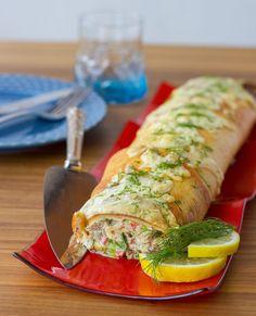 Denna tonfiskrulle är en given succé. I Love Food, Good Food, Yummy Food, Food N, Food And Drink, Zeina, Scandinavian Food, Swedish Recipes, Cooking Recipes