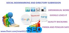 I will manually submit your website or Blog or Video links to quality 30+social bookmarking sites with PR6 to PR 10 and 50+Directory sites with PR3 to PR7.submitting manually is your best choice for your website be bookmarked properly and get indexed in Google and other search engines.so this gig really helpful for your website or Blog.