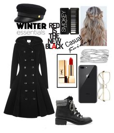 """Windy day!♡"" by ayeshaghori ❤ liked on Polyvore featuring Collectif, Yves Saint Laurent, Henri Bendel, Sam Edelman, M&Co and vintage"