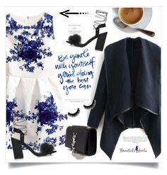 """""""Classy Style #7: Beautifulhalo. com"""" by chocolate-addicted-angel ❤ liked on Polyvore featuring moda, Yves Saint Laurent, Topshop, women's clothing, women's fashion, women, female, woman, misses y juniors"""
