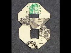 US currency bills are inches wide and inches long. Dollar Oragami, Oragami Money, Dollar Bill Origami, Paper Crafts Origami, Diy Origami, Us Currency Bills, Origami Numbers, Fold Dollar Bill, Creative Money Gifts