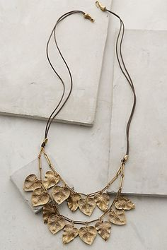Lily Leaves Necklace #anthrofave #anthropologie.com