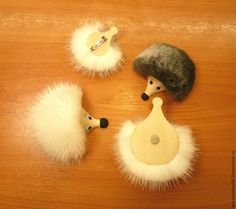 Делаем мехового Ёжика на магните - Ярмарка Мастеров - ручная работа, handmade