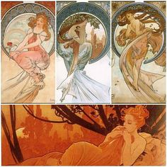 Today's classic artist is Alphonse Mucha. Czech artist and one of the founders of art nouveau. Mucha's studio.Mucha's self-portrait. Find more wonderful artwork by Mucha in books …