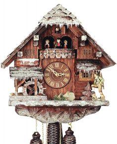 """Reloj de cuco estilo """"Chalet"""" movimiento mecánico de 8 días 38cm de Rombach & Haas"""