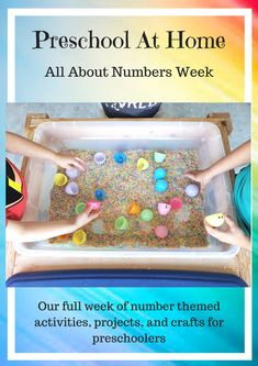 Preschool At Home: All About Numbers Week. Full week layout of Number themed . Numbers Preschool, Preschool At Home, Preschool Science, Preschool Learning, Preschool Crafts, Learning Activities, Preschool Ideas, Childcare Activities, Infant Activities