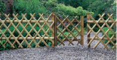 trellis low fence garden - Google Search