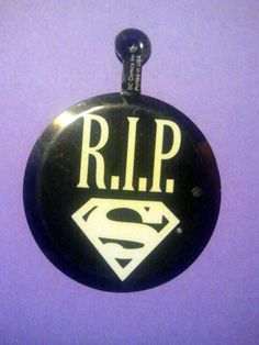 Superman RIP 1992 Promotional Pins #Collectible