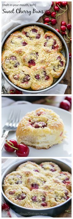 Sweet Cherry Filled Buns (old Russian recipe). So soft; they melt in your mouth @natashaskitchen