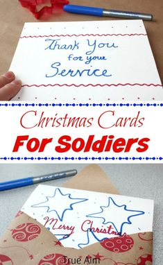 Christmas Cards for Soldiers - How to make and send #BICMerryMarking #DeepSeaBlue sponsored