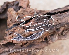 Mermaid Necklace, Sterling Silver, Oxidized, Wire Jewelry by Karismabykarajewelry on Etsy https://www.etsy.com/listing/175388566/mermaid-necklace-sterling-silver