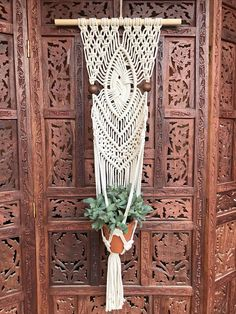 Macrame pared planta suspensión