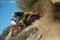 The 2013 KTM 250 XC-W has aggressive power delivery.