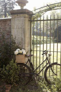 iron gate garden view