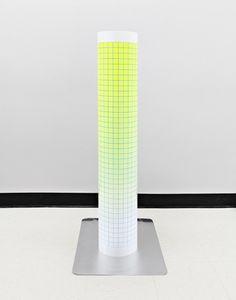 neon grid sculpture by Daniel Everett