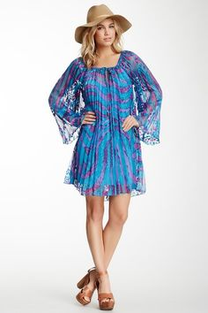 Hale Bob Printed Pleated Dress by Non Specific on @HauteLook $89