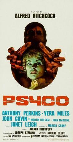 Póster italiano de Psycho
