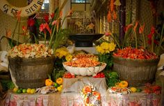 seafood catering display | Seafood Display, complete with Oysters Crab Legs and Shrimp, at the ...