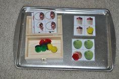 Several Montessori Tot Trays