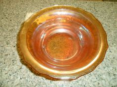 Vintage Marigold Carnival Glass Round Vegetable by PandBTreasures, $8.00