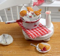 Miniature Fried Cherry Pies with Vintage Cherry by CuteinMiniature, $28.50