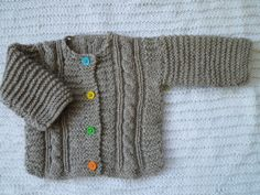 Handmade baby cardigan by KnitDjin on Etsy, $40.00