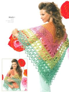 Crochet Shawl in SMC Miracle