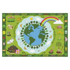 Found it at Wayfair - Fun Rugs Fun Time Go Green Kids Rughttp://www.wayfair.com/Fun-Rugs-Fun-Time-Go-Green-Kids-Rug-LAA1976.html?refid=SBP