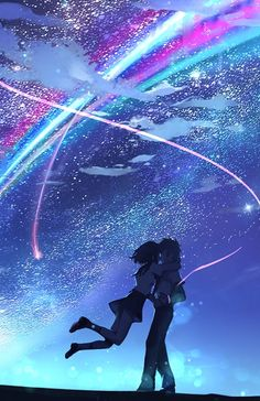 Your Name Movie Touching Through Space Poster Iphone 6 Wallpaper
