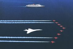Red Arrows With Concorde & The QE2