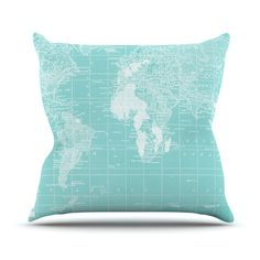 """Catherine Holcombe """"Welcome to my World"""" Outdoor Throw Pillow"""