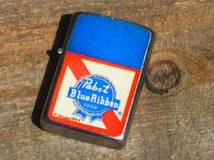 Vintage 70s Pabst Blue Ribbon Beer Flip Top by EpicElectric